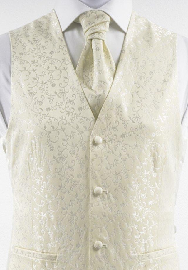 Weste für den Hochzeitsanzug Farbe Creme