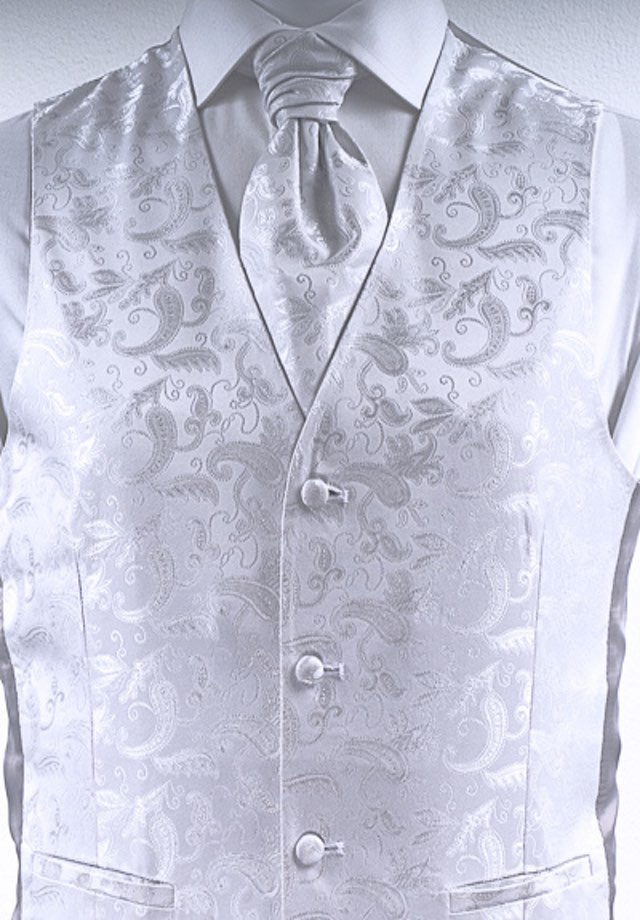 Weste für den Hochzeitsanzug Farbe silber